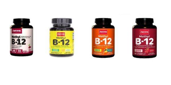 Jarrow Formulas Methylcobalamin (methyl) Vegan Vitamin B12 500 1000 2500 5000 mcg Flavored Lozenges