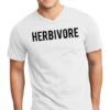 Men's Herbivore V-Neck Animal Vegan Food Soft White T-Shirt Tee