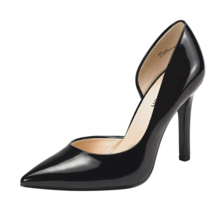Women's / Ladies' Vegan Faux Leather Black Pointed Toe Stiletto High Heels. Excellent Choice as Evening Party Shoes or for Clubbing! Available in 9 Sizes (US women)
