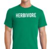 Men's Herbivore Crew Neck Animal Vegan Food Kelly Green T-Shirt Tee