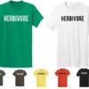 Men's Crew Neck & V-Neck Casual Regular Fit Short Sleeve Animal Vegan Food T-shirt Tee