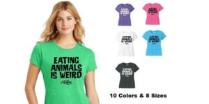 Eating Animals is Weird Women's Vegan Crew Neck T-shirt