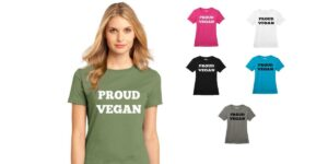 Women's Proud Vegan Cotton Crew Neck T-shirt