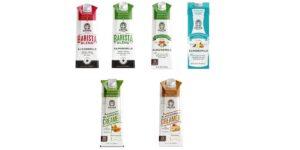 Califia Farms Almond Milk (4 flavors)  & Coffee Creamer (2 flavors), Original Barista Blend/Unsweetened Barista Blend/Unsweetened/Unsweetened Vanilla/Unsweetened Liquid Coffee Creamer/Hazelnut Coffee Creamer, Vegan, Plant-based, Dairy-free, Shelf-Stable Nut Milk 32oz (packs of 6 & 3)
