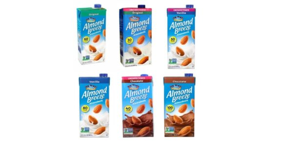 Almond Breeze Almond Milk, (6 flavors), Vegan, Plant-based, Nut Milk, Non-dairy, Dairy-free, Lactose-free, Sugar-free, Gluten-free, Casein-free, non-GMO, Soy-free, Shelf-Stable, Dairy / Cow Milk Substitute / Alternative Milk