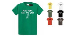 Peas Don't Kale My Vibe Men's Crew Neck & V-Neck Vegan T-Shirt