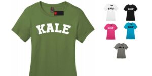 Kale Women's Vegan Cotton Crew Neck T-shirt Tee