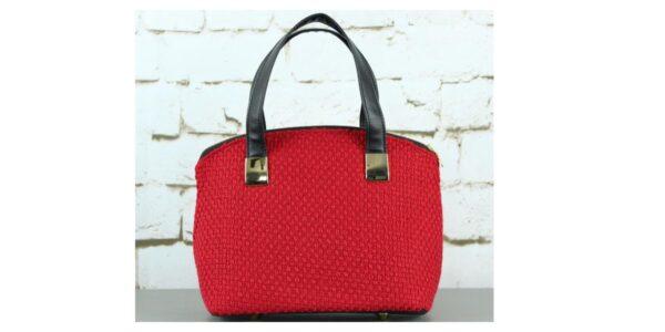 Women's Handmade Small Vegan Red Handbag / Purse