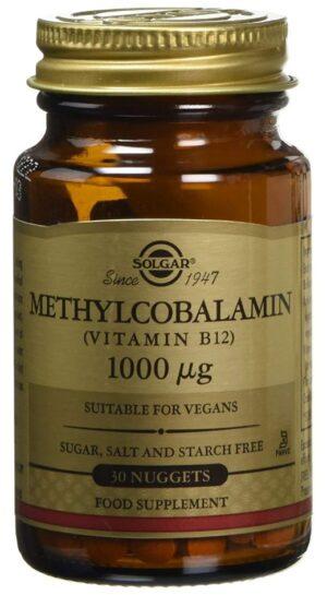 Solgar Sublingual Vegan Vitamin B12 Methylcobalamin (methyl) & cyanocobalamin 100 & 1,000 mcg